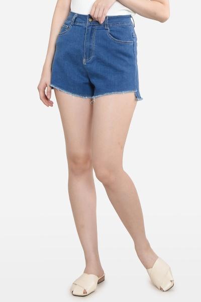 Bettye V Cut Jeans - Light Blue